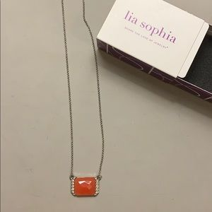 Red and crystal gemstone necklace